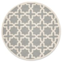 Safavieh Cambridge 8-Foot x 8-Foot Ana Wool Rug in Silver and Ivory