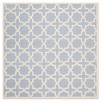 Safavieh Cambridge 8-Foot x 8-Foot Ana Wool Rug in Light Blue and Ivory