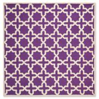 Safavieh Cambridge 8-Foot x 8-Foot Ana Wool Rug in Purple and Ivory