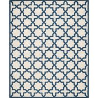 Safavieh Cambridge 8-Foot x 10-Foot Ana Wool Rug in Ivory and Navy