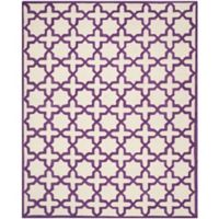Safavieh Cambridge 8-Foot x 10-Foot Ana Wool Rug in Ivory and Purple