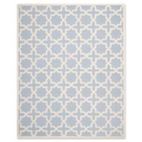 Safavieh Cambridge 8-Foot x 10-Foot Ana Wool Rug in Light Blue and Ivory