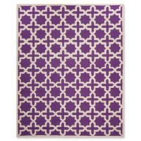 Safavieh Cambridge 9-Foot x 12-Foot Ana Wool Rug in Purple and Ivory