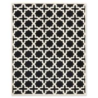 Safavieh Cambridge 9-Foot x 12-Foot Ana Wool Rug in Black and Ivory