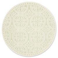 Safavieh Cambridge 6-Foot x 6-Foot Gena Wool Rug in Light Green/Ivory