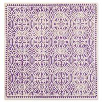 Safavieh Cambridge 6-Foot x 6-Foot Gena Wool Rug in Purple/Ivory