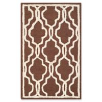 Safavieh Cambridge 2-Foot x 3-Foot Ella Wool Rug in Dark Brown/Ivory