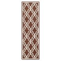 Safavieh Cambridge 2-Foot 6-Inch x 6-Foot Ella Wool Rug in Dark Brown/Ivory