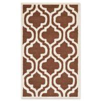 Safavieh Cambridge 3-Foot x 5-Foot Becca Wool Rug in Dark Brown/Ivory