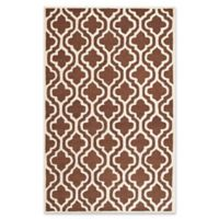 Safavieh Cambridge 4-Foot x 6-Foot Becca Wool Rug in Dark Brown/Ivory