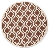 Safavieh Cambridge 6-Foot x 6-Foot Becca Wool Rug in Dark Brown/Ivory
