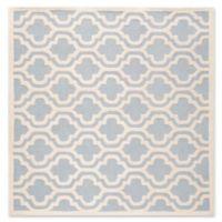 Safavieh Cambridge 6-Foot x 6-Foot Becca Wool Rug in Light Blue/Ivory
