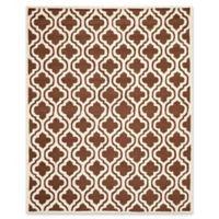 Safavieh Cambridge 8-Foot x 10-Foot Becca Wool Rug in Dark Brown/Ivory