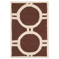 Safavieh Cambridge 2-Foot x 3-Foot Morgan Wool Rug in Dark Brown/Ivory