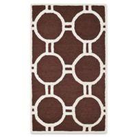 Safavieh Cambridge 4-Foot x 6-Foot Morgan Wool Rug in Dark Brown/Ivory