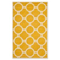 Safavieh Cambridge 5-Foot x 8-Foot Morgan Wool Rug in Gold/Ivory