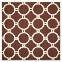 Safavieh Cambridge 6-Foot x 6-Foot Morgan Wool Rug in Dark Brown/Ivory