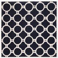 Safavieh Cambridge 6-Foot x 6-Foot Morgan Wool Rug in Black/Ivory