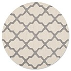 Safavieh Cambridge 4-Foot x 4-Foot Quatrefoil Wool Rug in Ivory/Silver