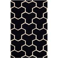 Safavieh Cambridge 3-Foot x 5-Foot Lia Wool Rug in Black/Ivory