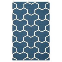 Safavieh Cambridge 4-Foot x 6-Foot Lia Wool Rug in Navy Blue/Ivory