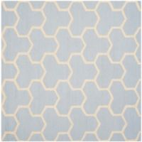 Safavieh Cambridge 6-Foot x 6-Foot Lia Wool Rug in Light Blue/Ivory