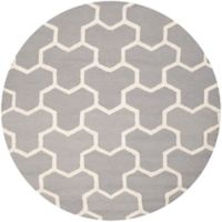 Safavieh Cambridge 6-Foot x 6-Foot Lia Wool Rug in Silver/Ivory
