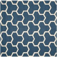 Safavieh Cambridge 6-Foot x 6-Foot Lia Wool Rug in Navy Blue/Ivory