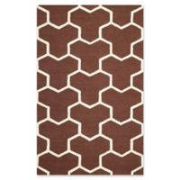 Safavieh Cambridge 6-Foot x 9-Foot Lia Wool Rug in Dark Brown/Ivory