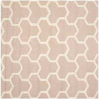Safavieh Cambridge 8-Foot x 8-Foot Lia Wool Rug in Beige/Ivory
