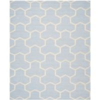 Safavieh Cambridge 8-Foot x 10-Foot Lia Wool Rug in Light Blue/Ivory