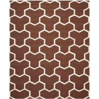 Safavieh Cambridge 8-Foot x 10-Foot Lia Wool Rug in Dark Brown/Ivory