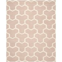 Safavieh Cambridge 8-Foot x 10-Foot Lia Wool Rug in Beige/Ivory