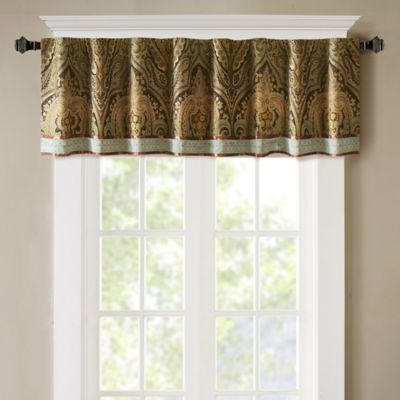 Hampton Hill Canovia Springs Jacquard Pieced Rod Pocket Window Curtain Valance In Brown