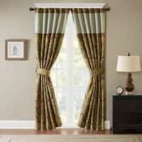 Hampton Hill Canovia Springs Jacquard 95-Inch Rod Pocket Window Curtain Panel in Brown