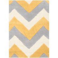 Safavieh Cambridge 2-Foot x 3-Foot Dylan Wool Rug in Grey/Gold