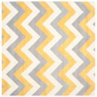 Safavieh Cambridge 6-Foot x 6-Foot Dylan Wool Rug in Grey/Gold