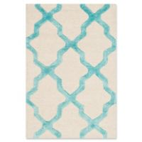 Safavieh Cambridge 2-Foot x 3-Foot Sammy Wool Rug in Ivory/Turquoise