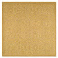 Safavieh Cambridge 6-Foot x 6-Foot Lindsey Wool Rug in Light Gold/Dark Gold