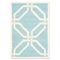 Safavieh Cambridge 2-Foot x 3-Foot Tina Wool Rug in Light Blue/Ivory