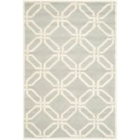 Safavieh Cambridge 3-Foot x 5-Foot Tina Wool Rug in Light Grey/Ivory