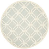 Safavieh Cambridge 6-Foot x 6-Foot Tina Wool Rug in Light Grey/Ivory