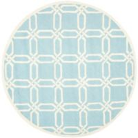 Safavieh Cambridge 6-Foot x 6-Foot Tina Wool Rug in Light Blue/Ivory