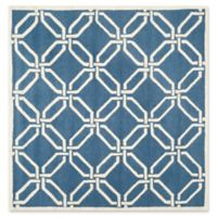 Safavieh Cambridge 6-Foot x 6-Foot Tina Wool Rug in Navy /Ivory