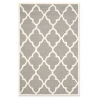 Safavieh Cambridge 5-Foot x 8-Foot Erica Wool Rug in Dark Grey/Ivory