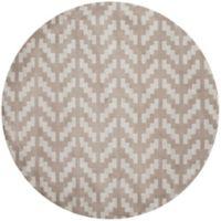 Safavieh Cambridge 6-Foot x 6-Foot Jolie Wool Rug in Grey/Taupe