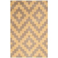 Safavieh Cambridge 2-Foot x 3-Foot Carly Wool Rug in Taupe and Gold