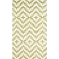 Safavieh Cambridge 3-Foot x 5-Foot Carly Wool Rug in Ivory and Light Green