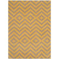 Safavieh Cambridge 4-Foot x 6-Foot Carly Wool Rug in Taupe and Gold
