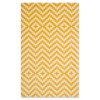 Safavieh Cambridge 5-Foot x 7-Foot Carly Wool Rug in Ivory and Gold